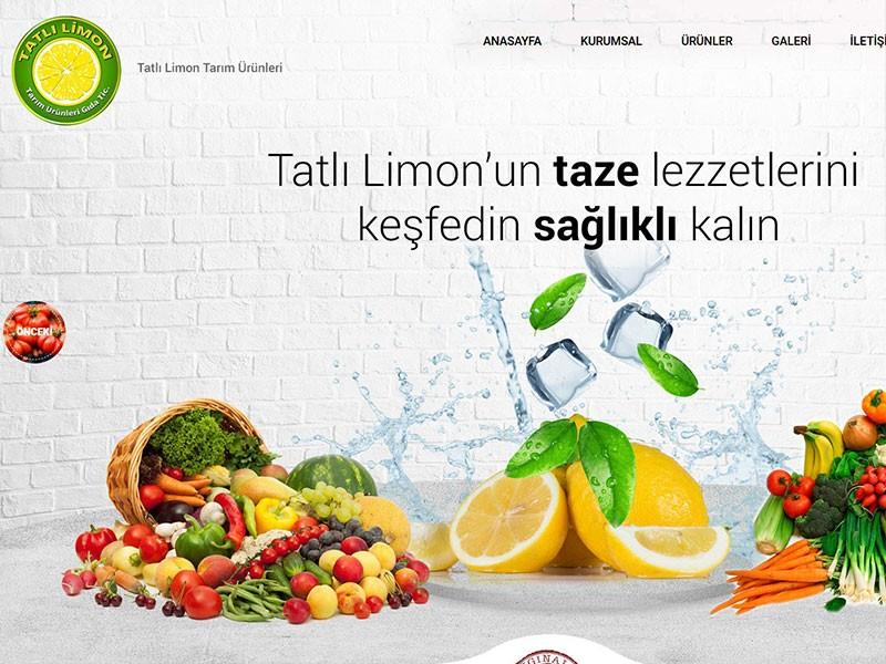 Web sitemizde taze sebze meyve tarım ürünlerini bulabilir ve kolaylıkla sipariş verebilirsiniz.